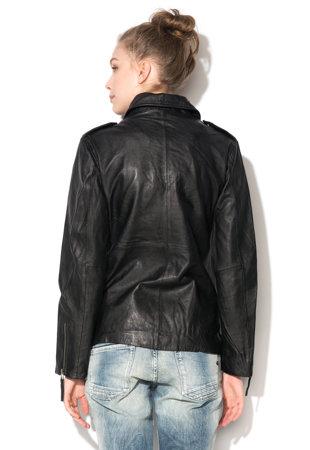 Jacheta biker neagra din piele Wella