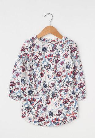 Bluza alba lunga cu imprimeu Mimi