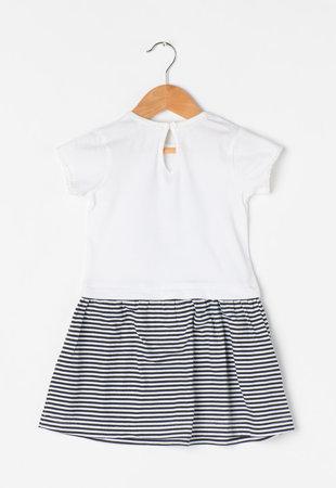 Rochie alb cu negru cu aspect 2in1