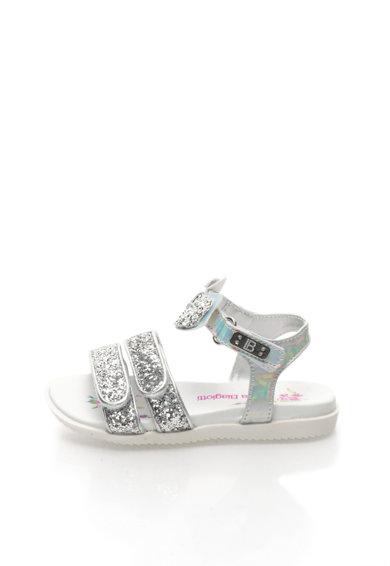 Sandale argintii cu particule stralucitoare