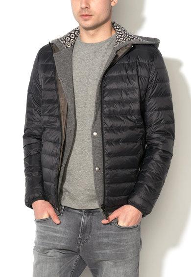 Jacheta reversibila cu umplutura negru cu kaki inchis