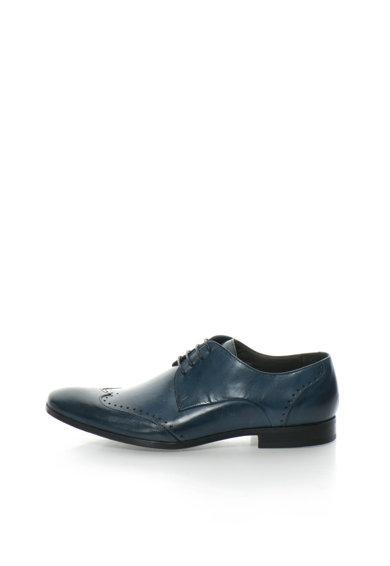 Pantofi derby bleumarin inchis de piele