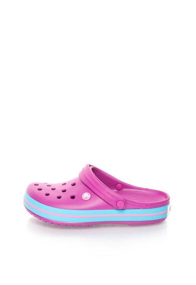 Saboti slingback violet tyrian cu albastru azur Crocband™ de la Crocs