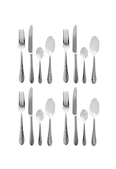 Set argintiu de tacamuri din otel inoxidabil – 16 piese de la Viners