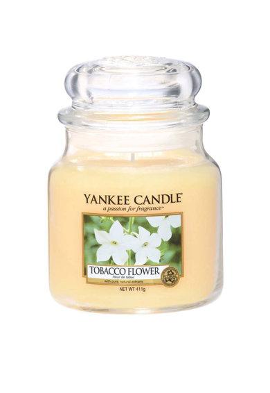 Lumanare parfumata medie in borcan Tobacco Flower de la Yankee Candle