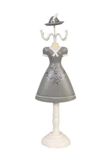 Suport pentru bijuterii alb si gri cu design silueta de la Clayre  Eef