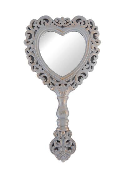 Oglinda in forma de inima cu maner de la Clayre  Eef