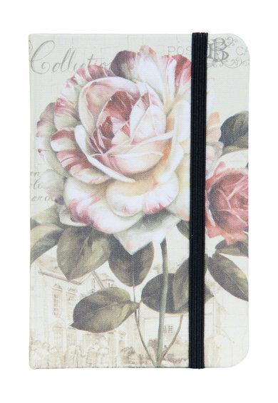 Carnetel alb prafuit si roz prafuit cu model floral de la Clayre  Eef