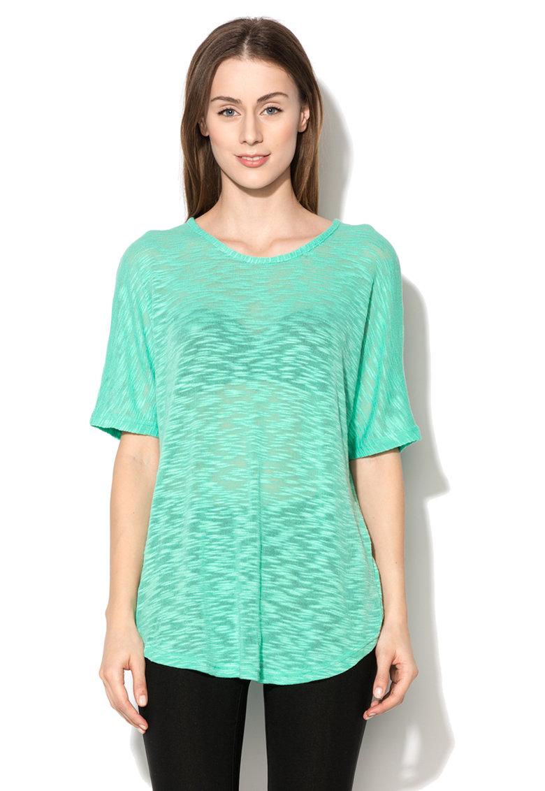 byoung Bluza verde menta din jerseu tricotat Laki