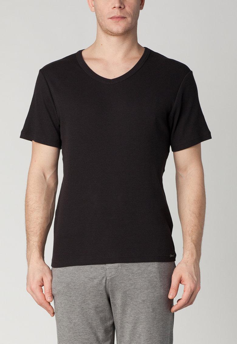 Tricou negru de casa de la Skiny