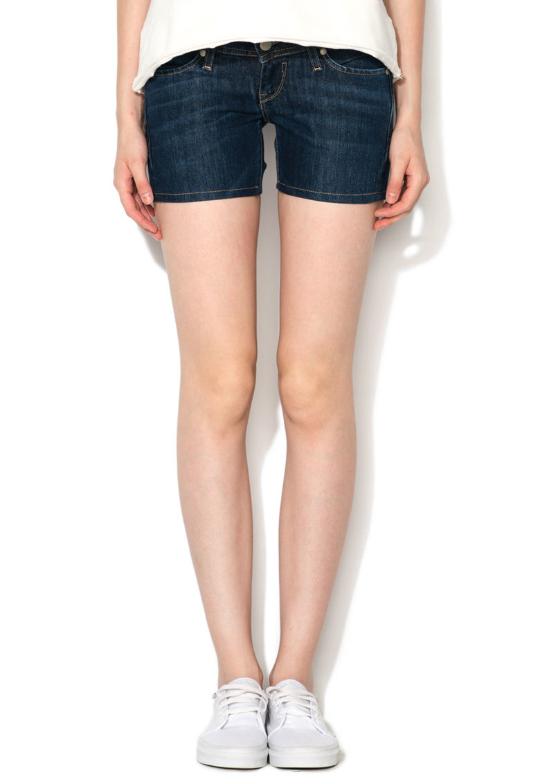 Big Star Pantaloni scurti albastru inchis din denim Sarita