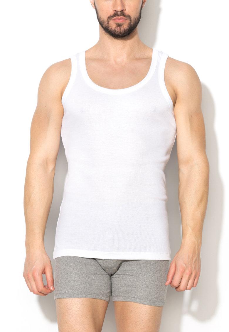 Top alb din material striat de la Levis – 961022001-300