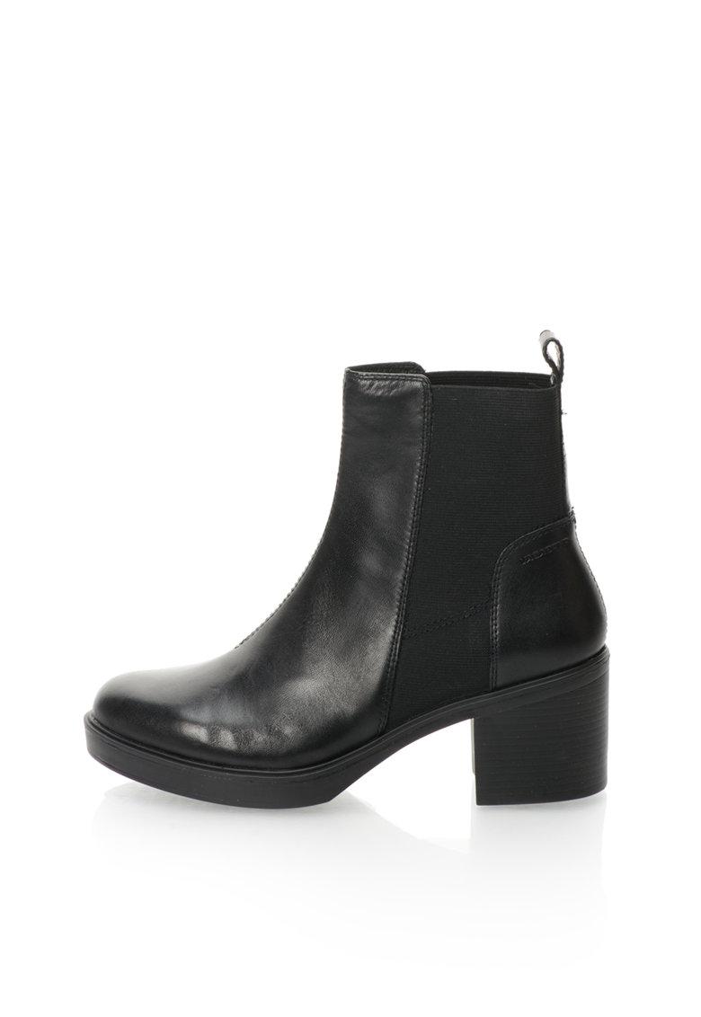 Vagabond Shoemakers Ghete Chelsea negre de piele Tilda