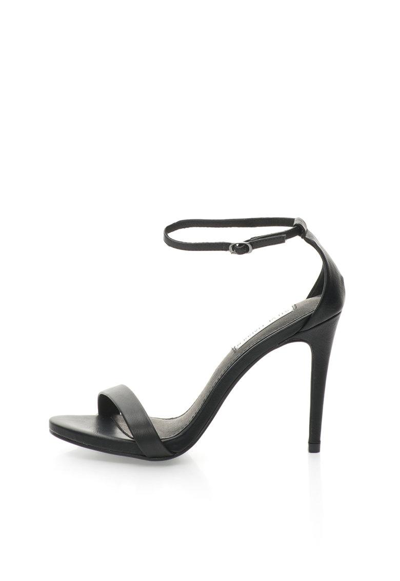 Sandale negre cu toc inalt Stecy