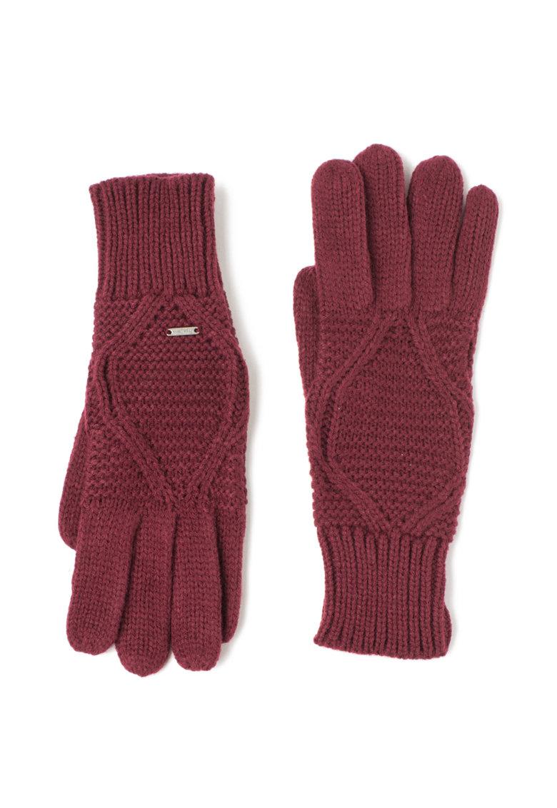 Manusi Bordeaux tricotate de la Pepe Jeans London