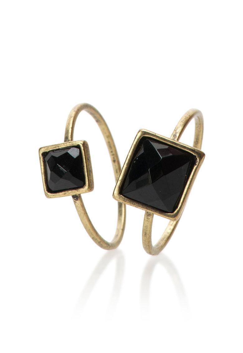 Pepe Jeans London Set de inele auriu cu negru Gio – 2 piese 0