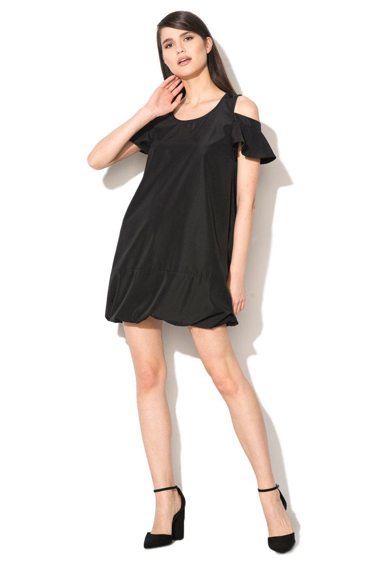 Zee Lane Collection Rochie neagra cu terminatie elastica