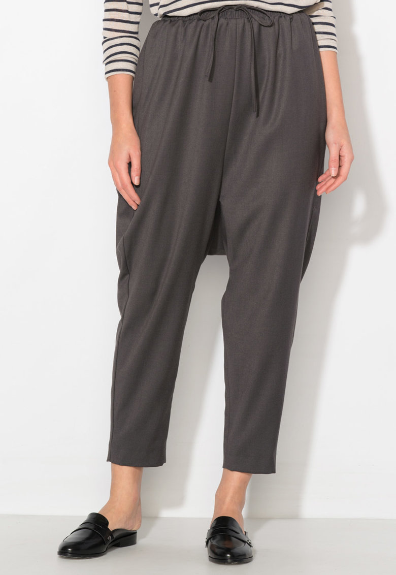 Zee Lane Collection Pantaloni harem gri inchis