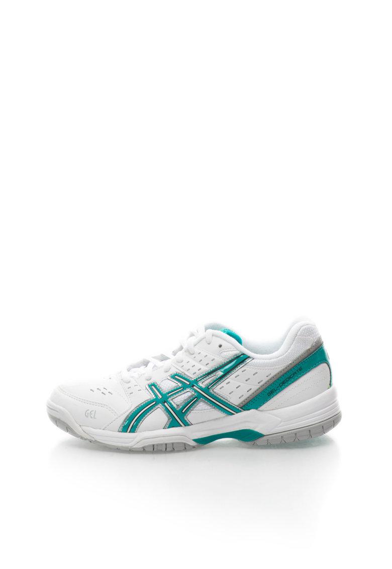 Pantofi sport alb cu verde Gel Dedicate