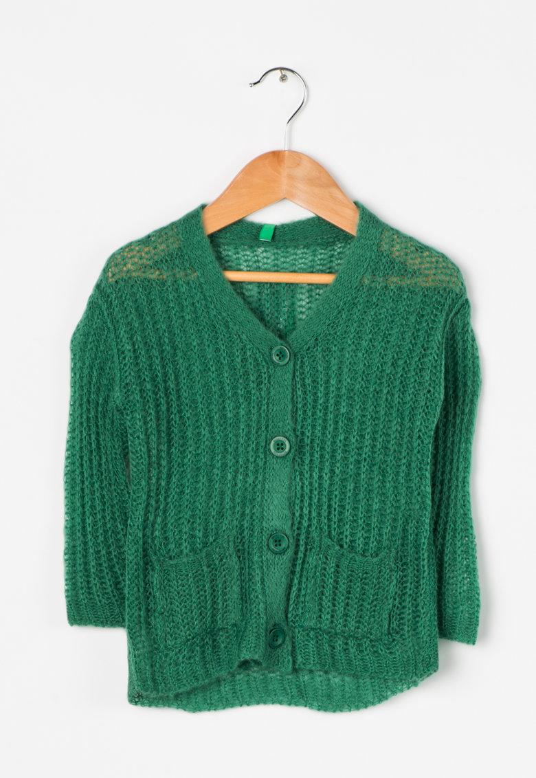 Cardigan tricotat verde