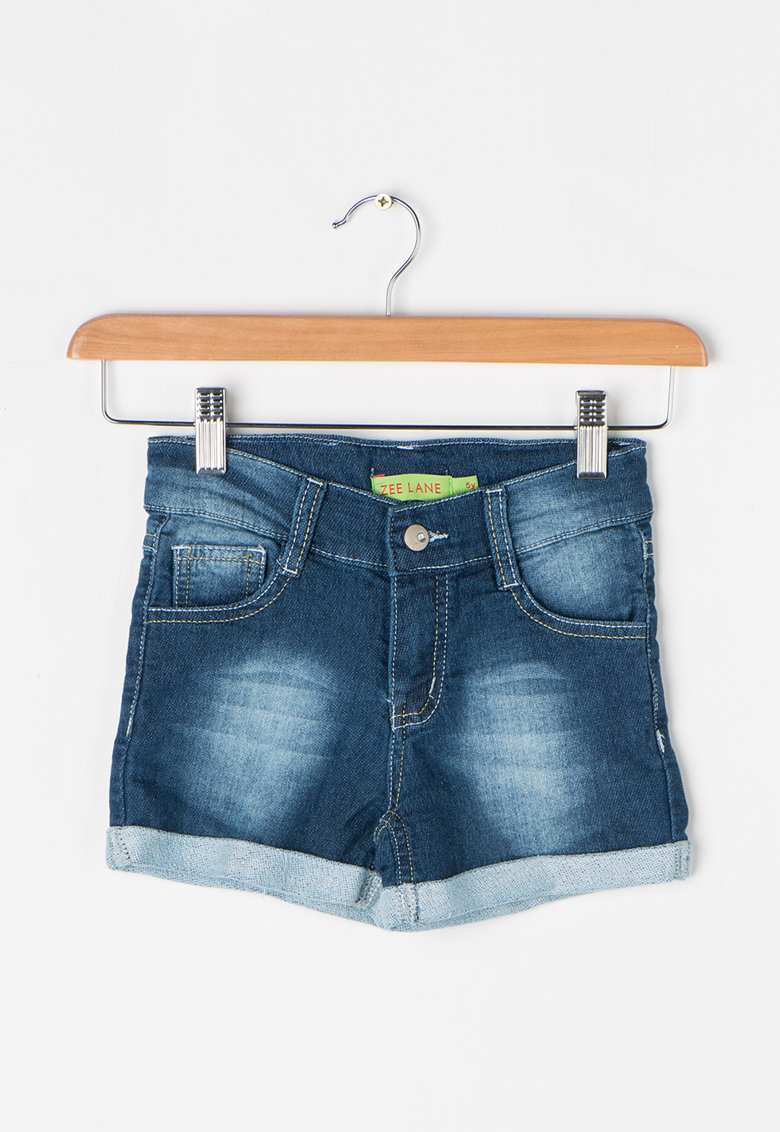 Zee Lane Kids Pantaloni scurti albastru inchis din denim