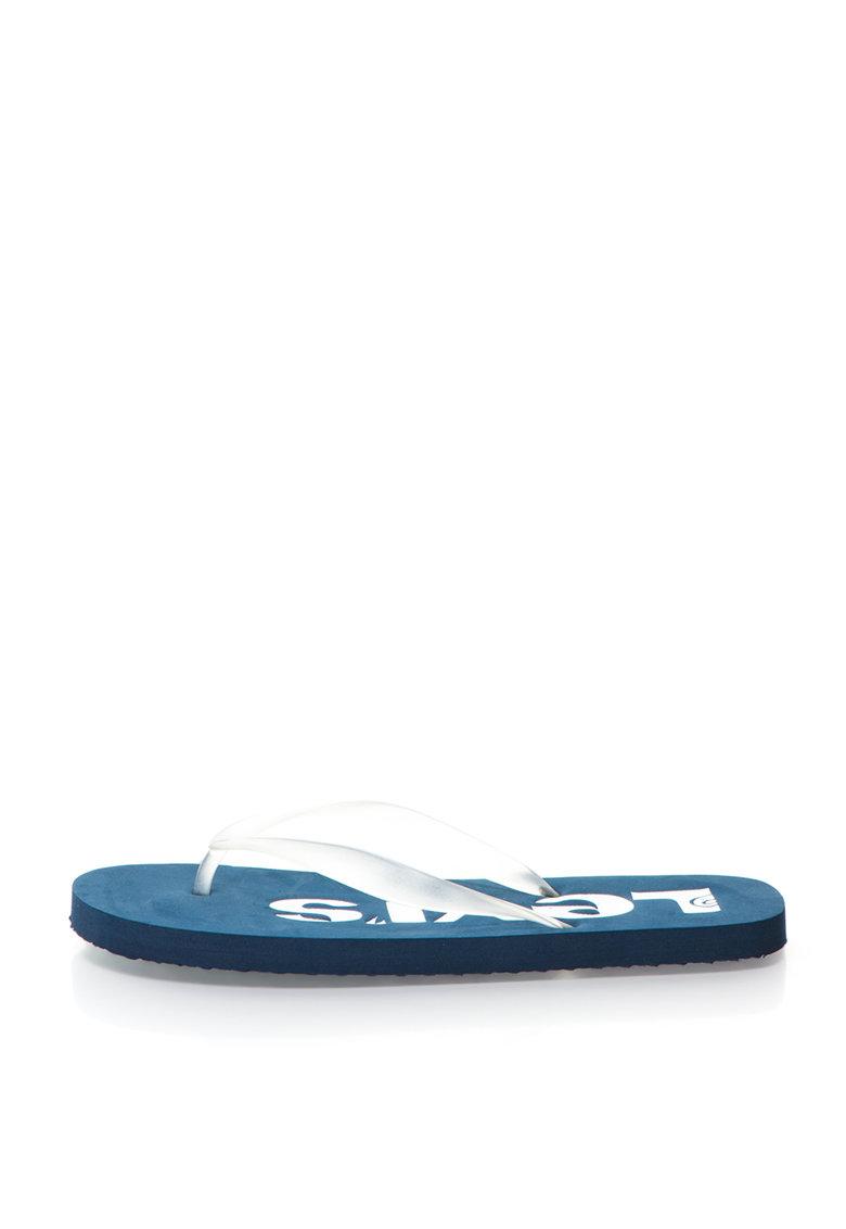 Papuci flip-flop albi transparenti