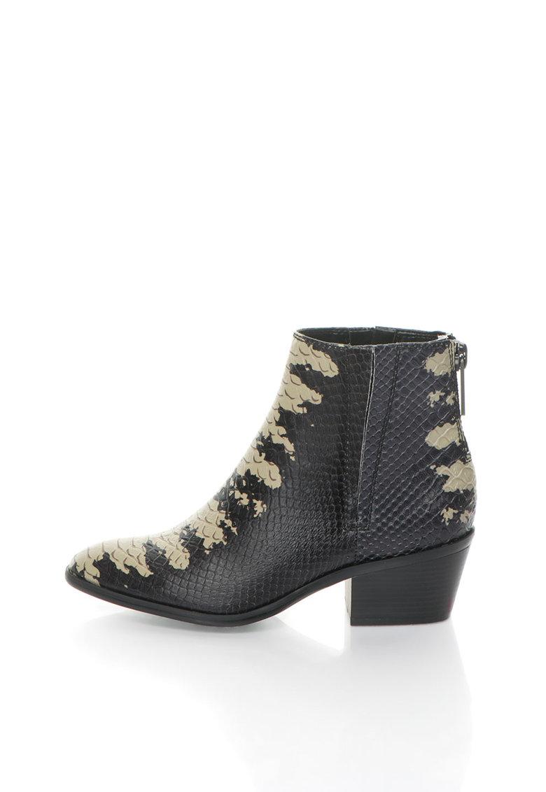 Calvin Klein Jeans Botine negru cu ecru de piele Phaedra