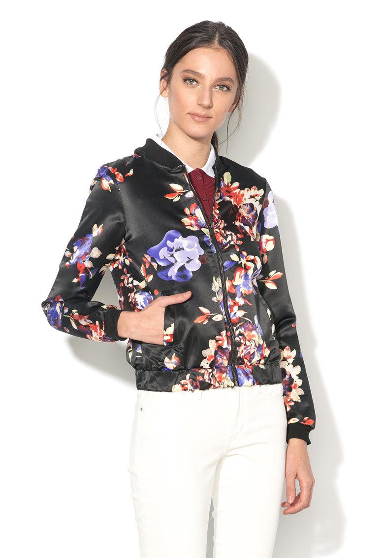 Jacheta bomber cu imprimeu floral Vera de la BRAVE SOUL