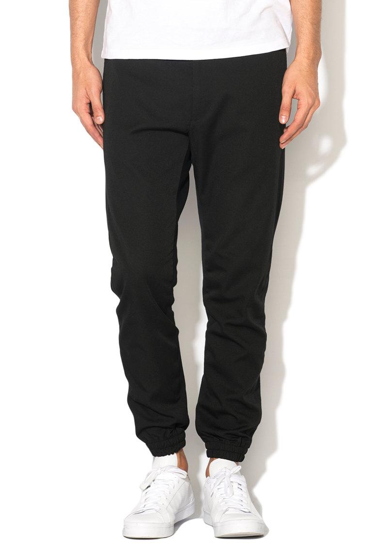 Diesel Pantaloni negri cu terminatii elastice Depp