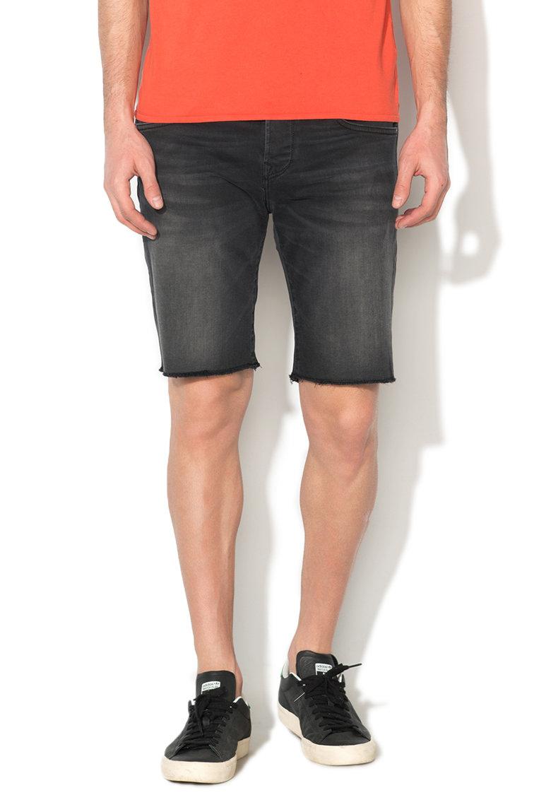 Bermude negre slim fit din denim Chap Pepe Jeans London
