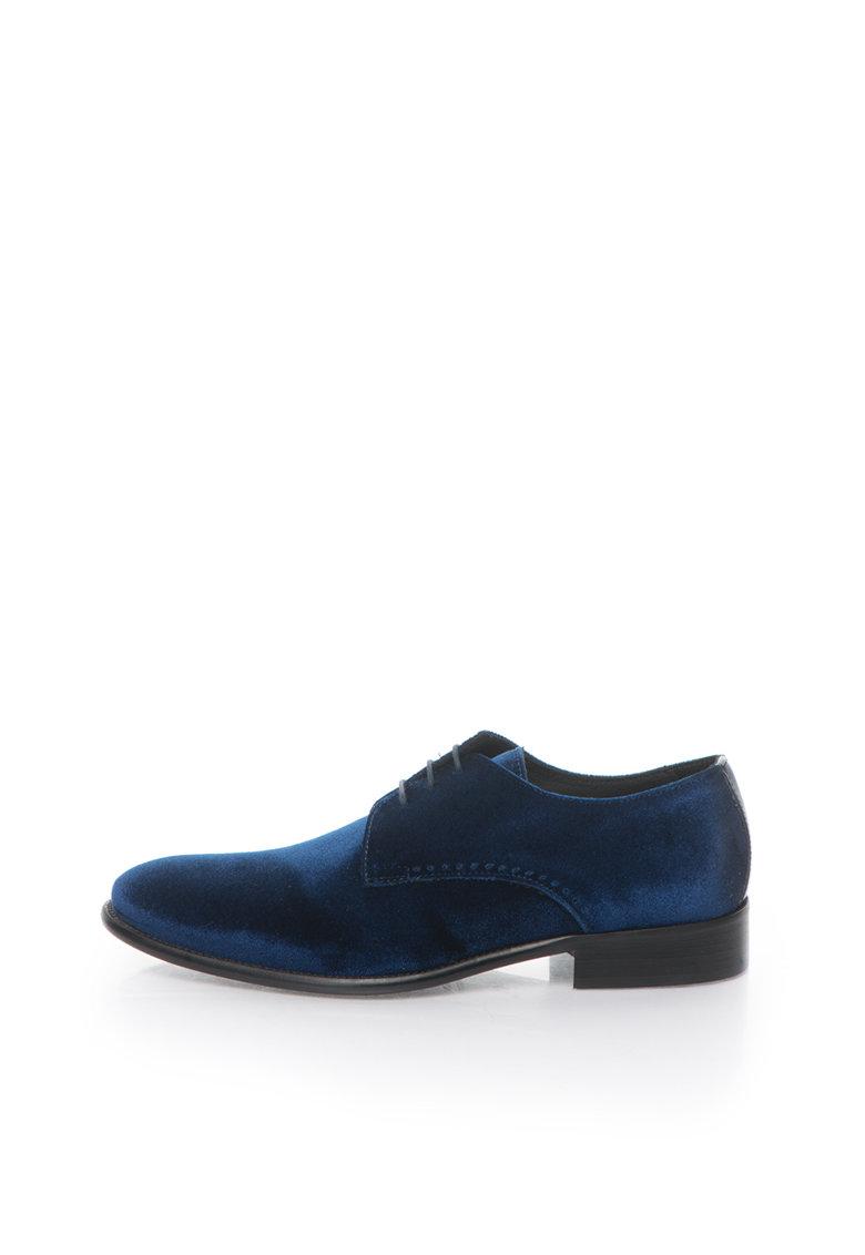 Zee Lane Pantofi derby albastri catifelati