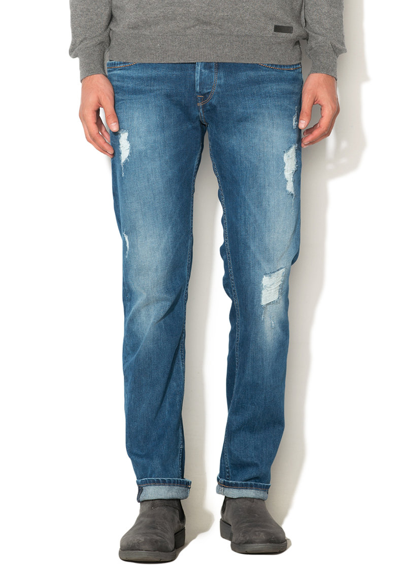 Pepe Jeans London Jeansi regular fit drepti albastri Cash