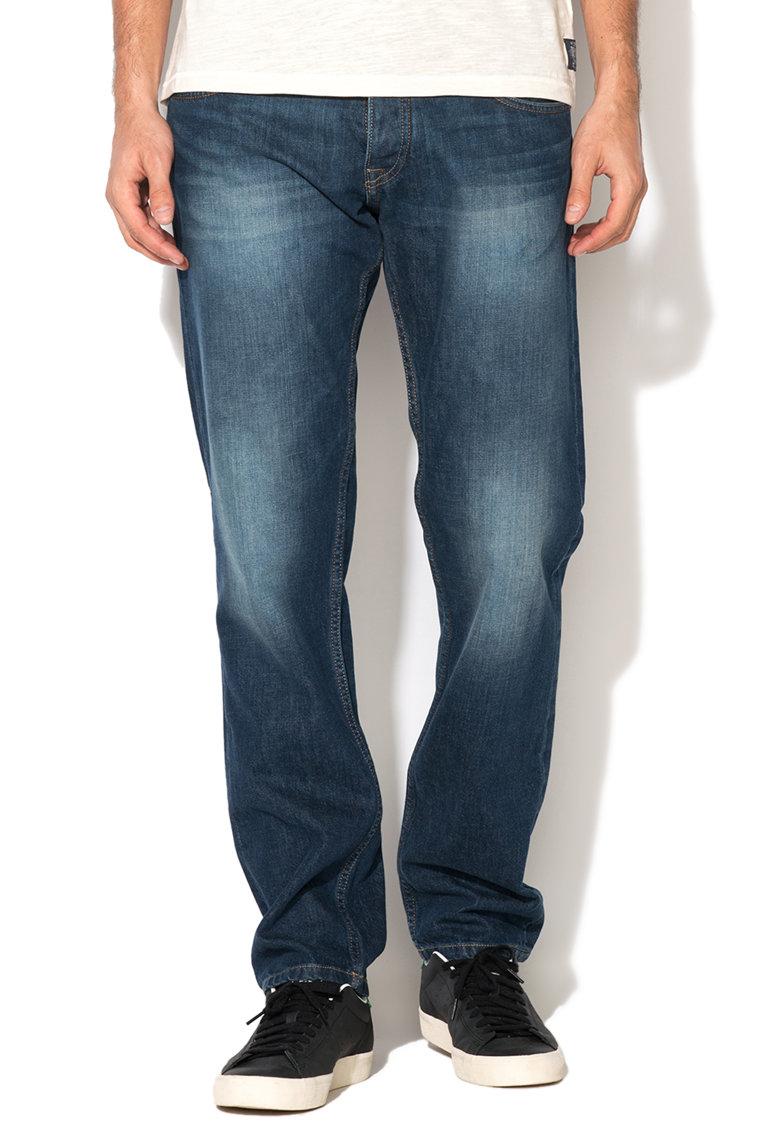 Jeansi conici albastru inchis Ronald 567