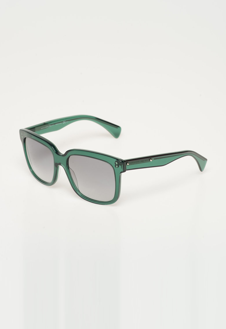 Ochelari de soare verde inchis transparent de la Alexander Mcqueen