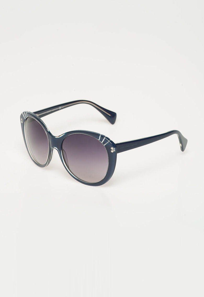 Ochelari de soare albastru inchis de la Alexander Mcqueen