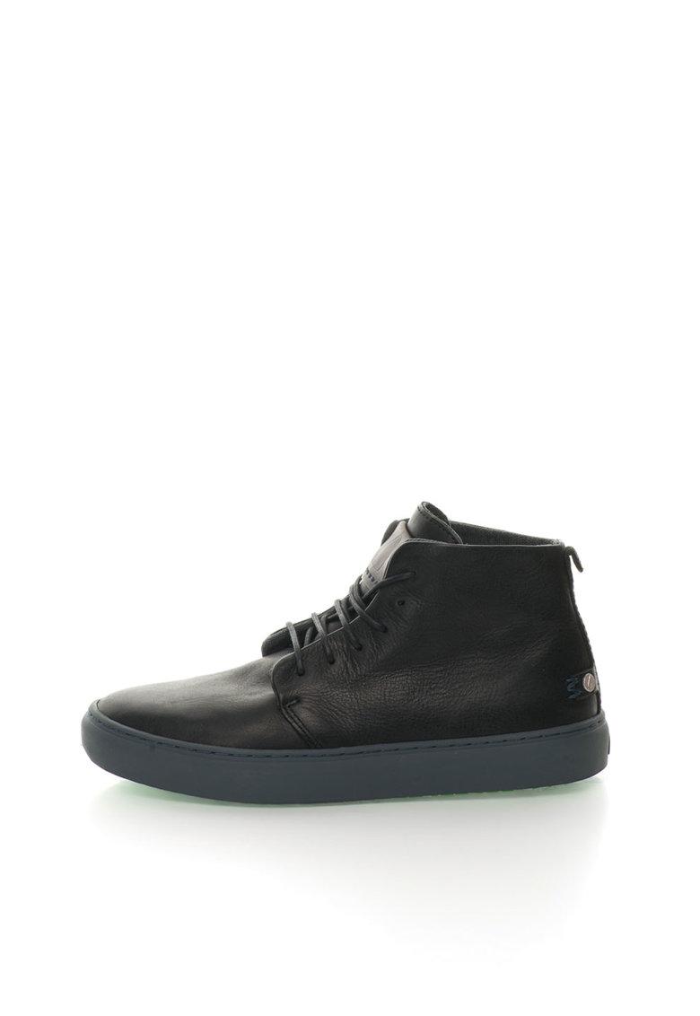 Pantofi casual inalti negri de piele Bywater de la Satorisan