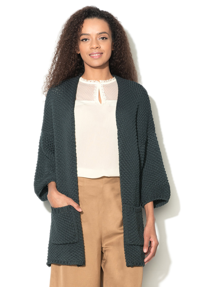 United Colors Of Benetton Cardigan tricotat gri carbune