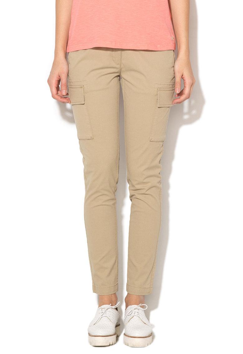 Napapijri – Pantaloni conici maro nisip Malibu N0YFZIN78