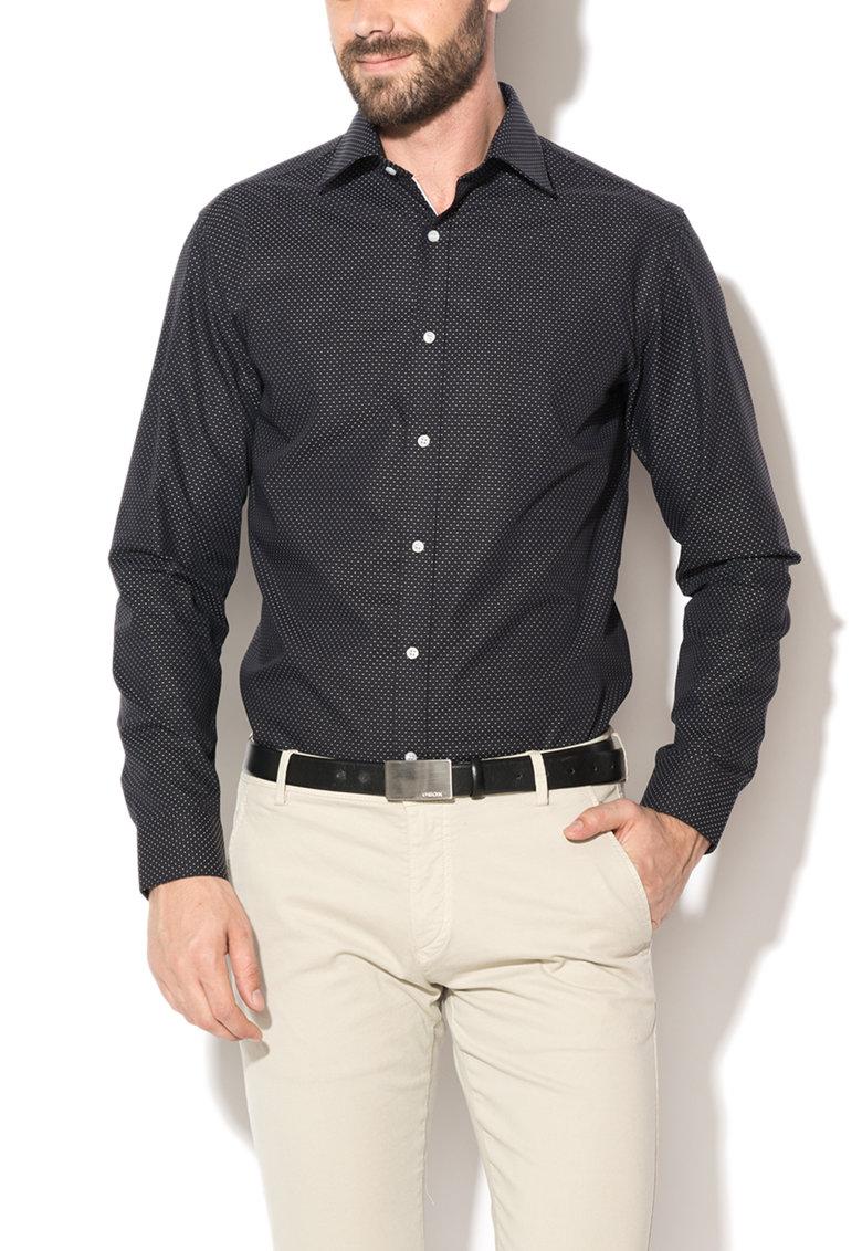 Selected Homme Camasa neagra cu model alb Twotim