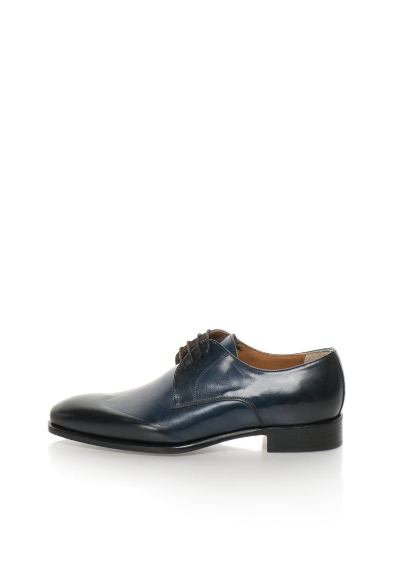 Zee Lane Collection Pantofi derby bleumarin de piele