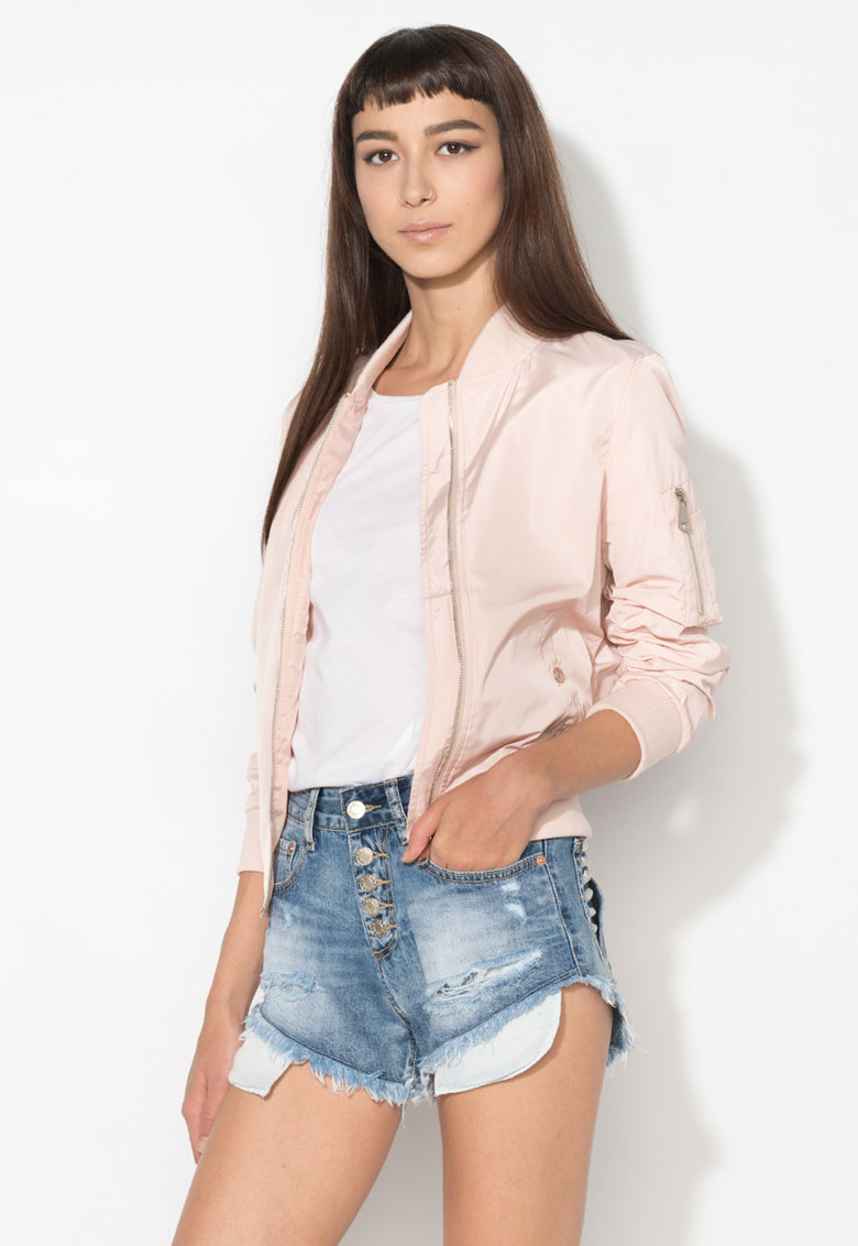 Zee Lane Denim Jacheta bomber roz pal