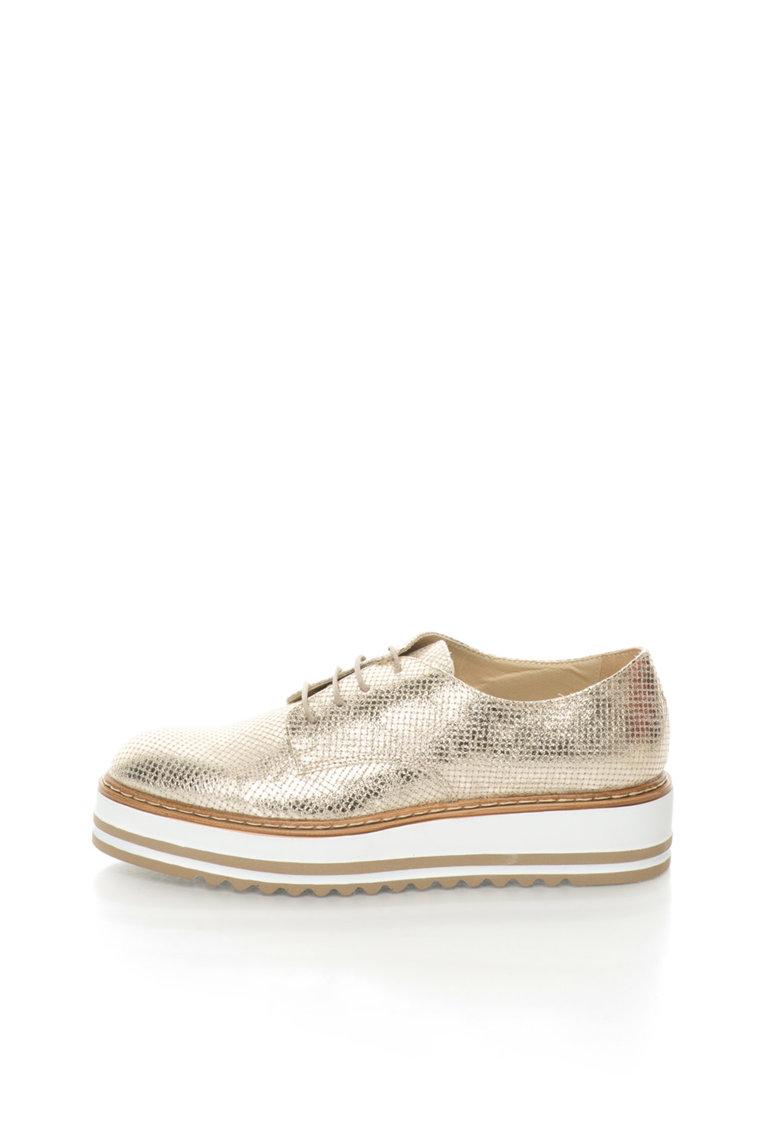 Zee Lane Pantofi Oxford wedge aurii Sibil