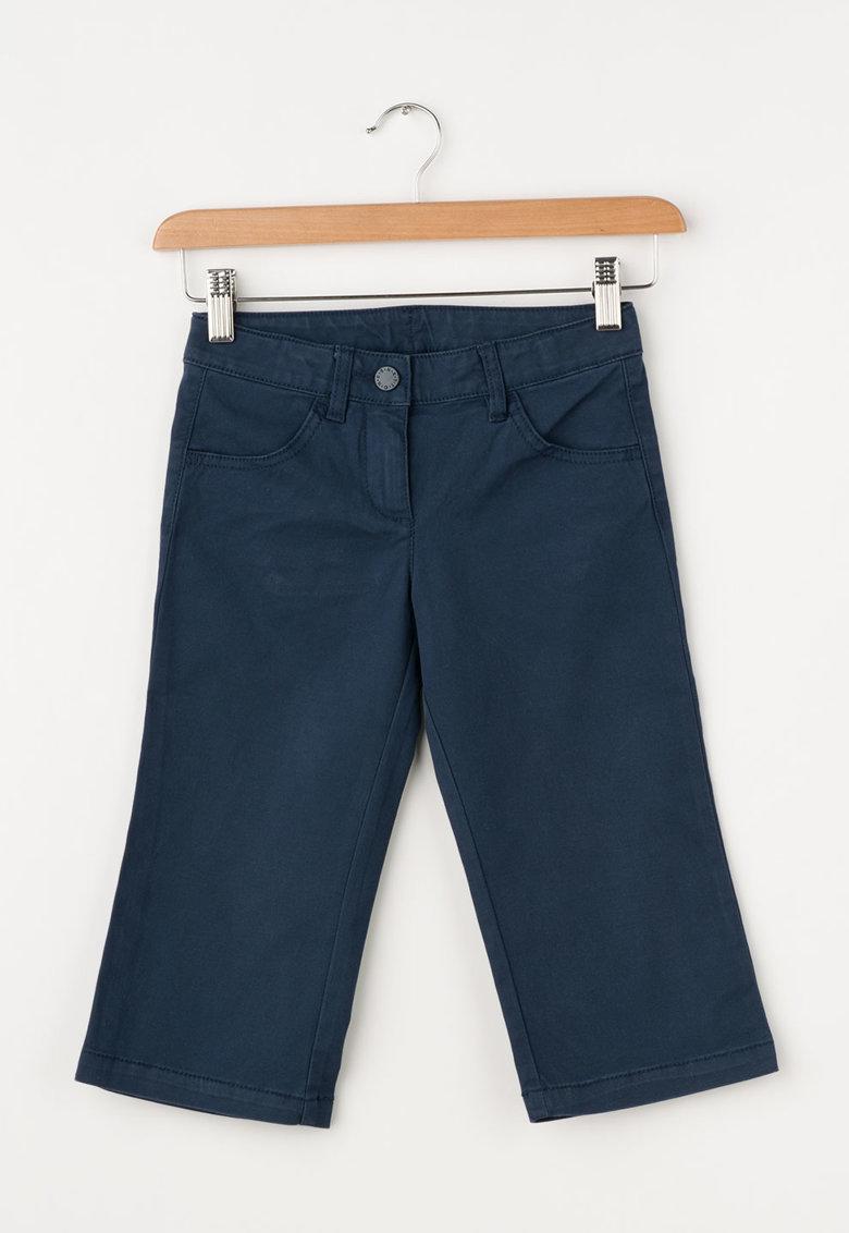 United Colors Of Benetton Jeansi albastru mineral drepti cu talie ajustabila