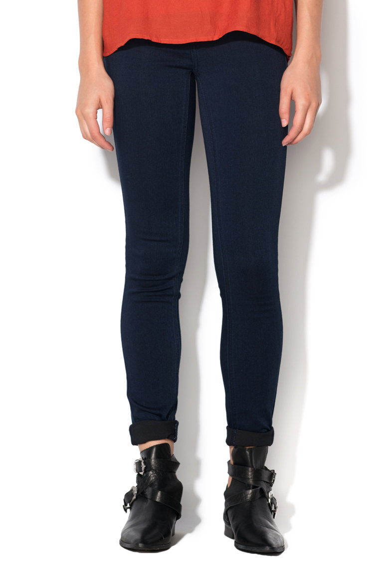 Jeansi elastici albastru inchis Commit de la Vila