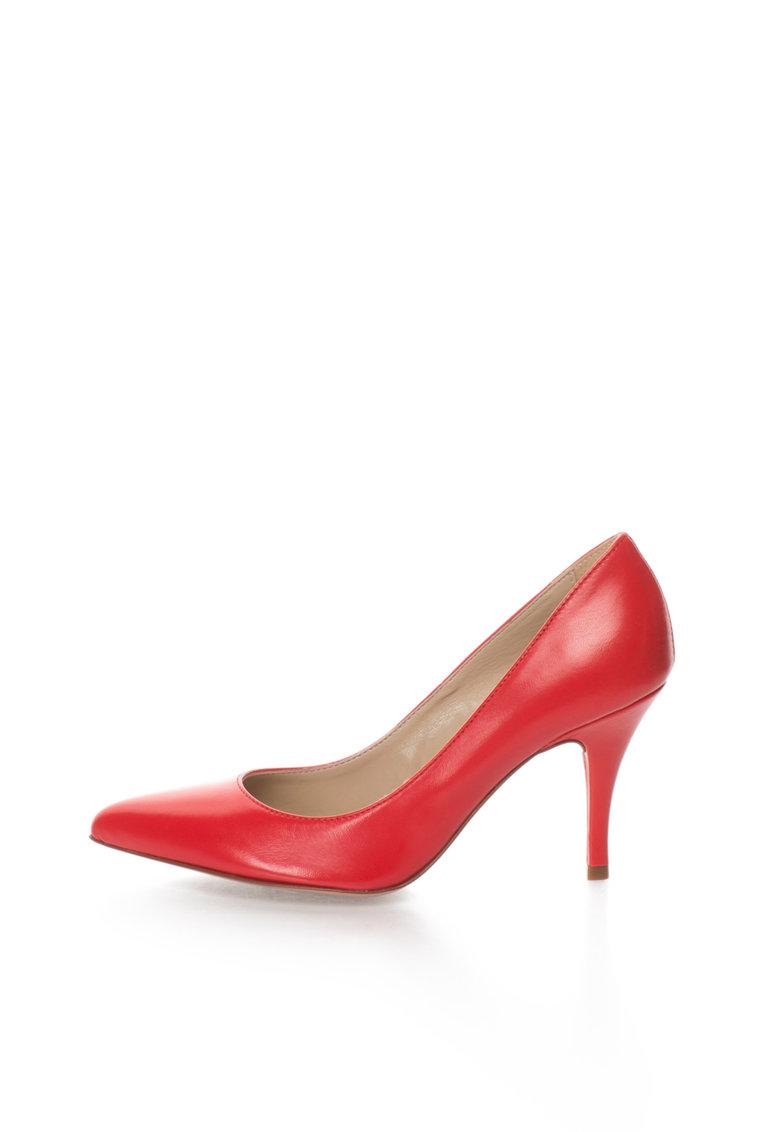Zee Lane Pantofi rosii de piele cu varf ascutit