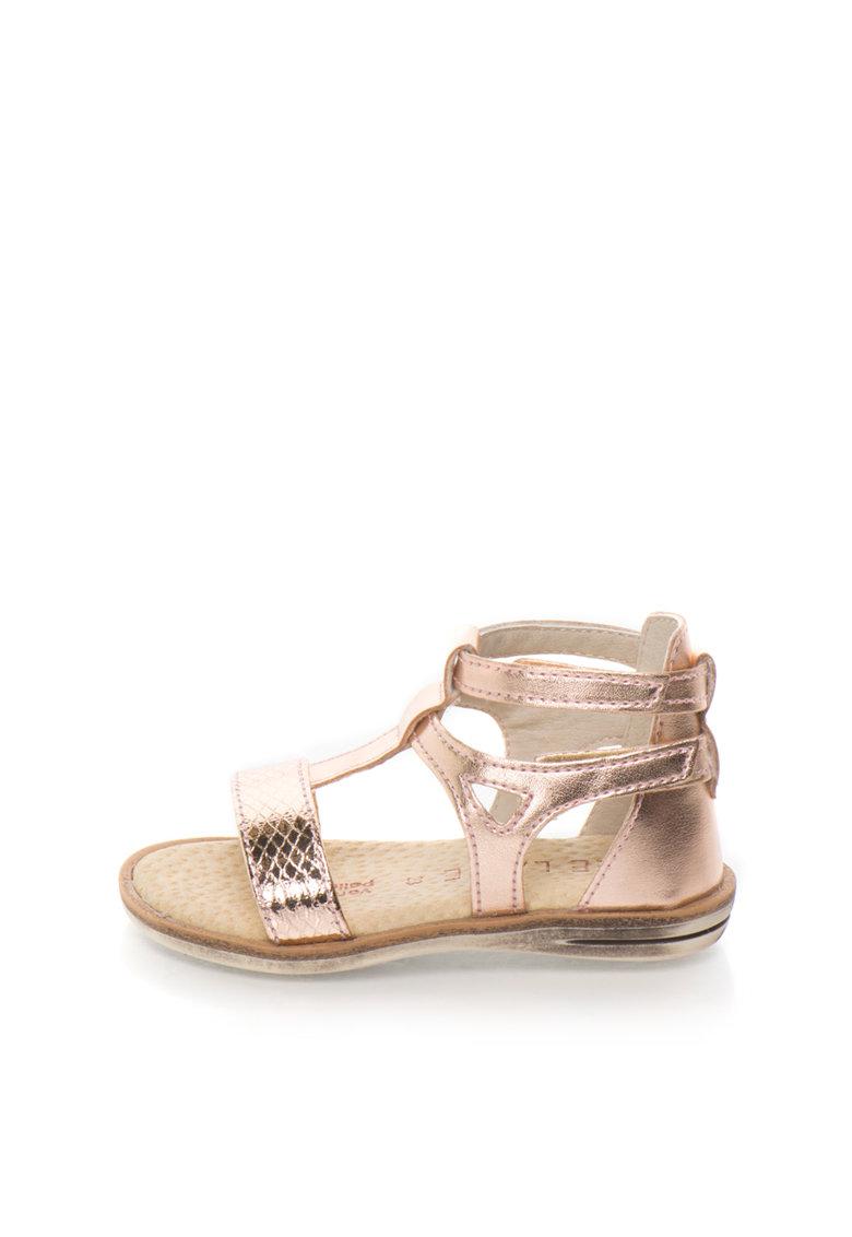 Sandale roz metalizat