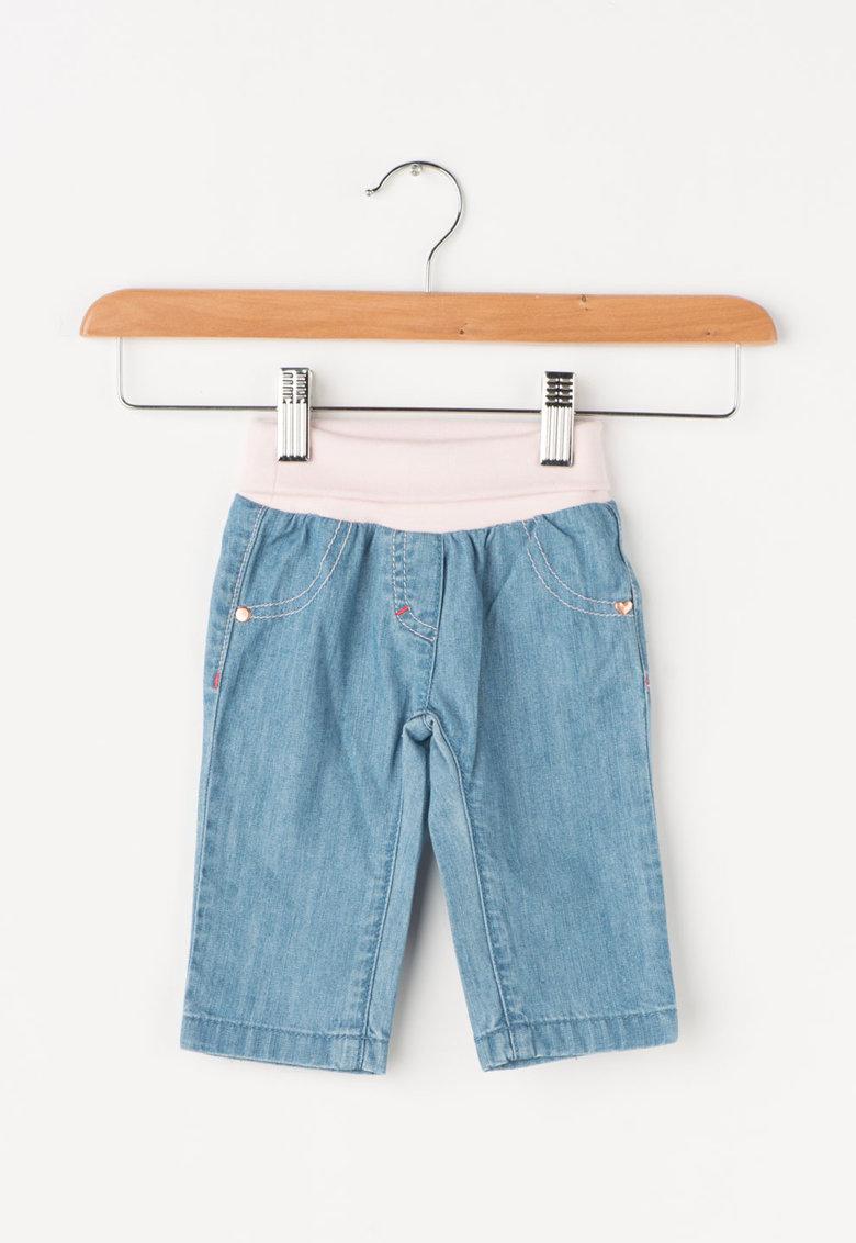 Pantaloni bleu cu roz pal de la Esprit