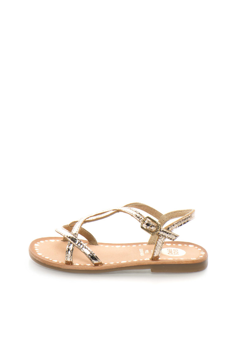 Gioseppo Sandale aurii de piele Vanila