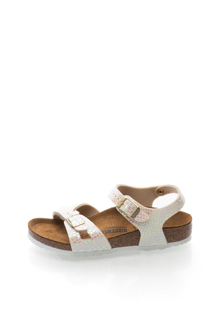 Sandale bej cu model reptila Rio de la Birkenstock