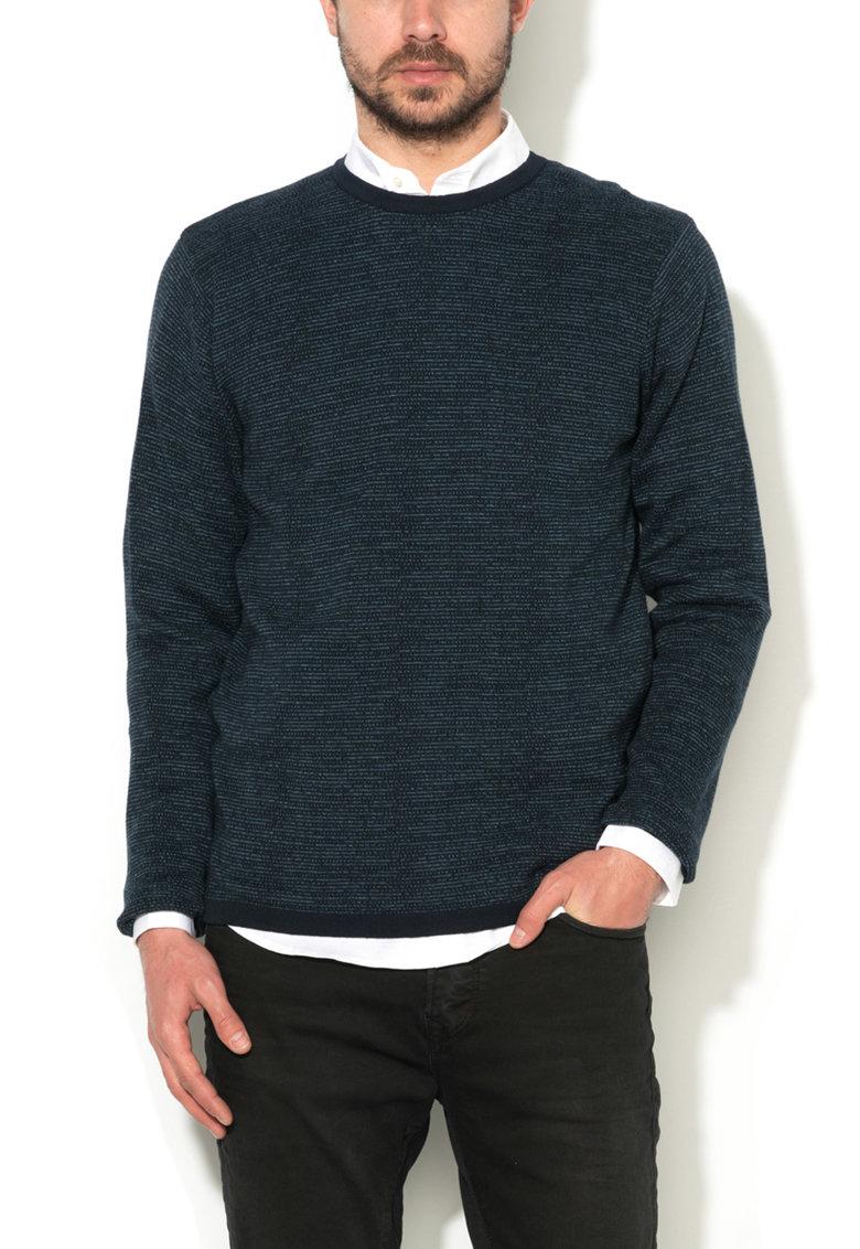 JackJones Pulover bleumarin melange tricotat fin Mike